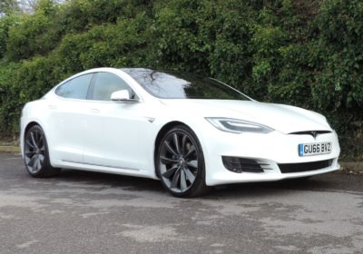 Tesla Model S 75D (2016) White / Tan leather