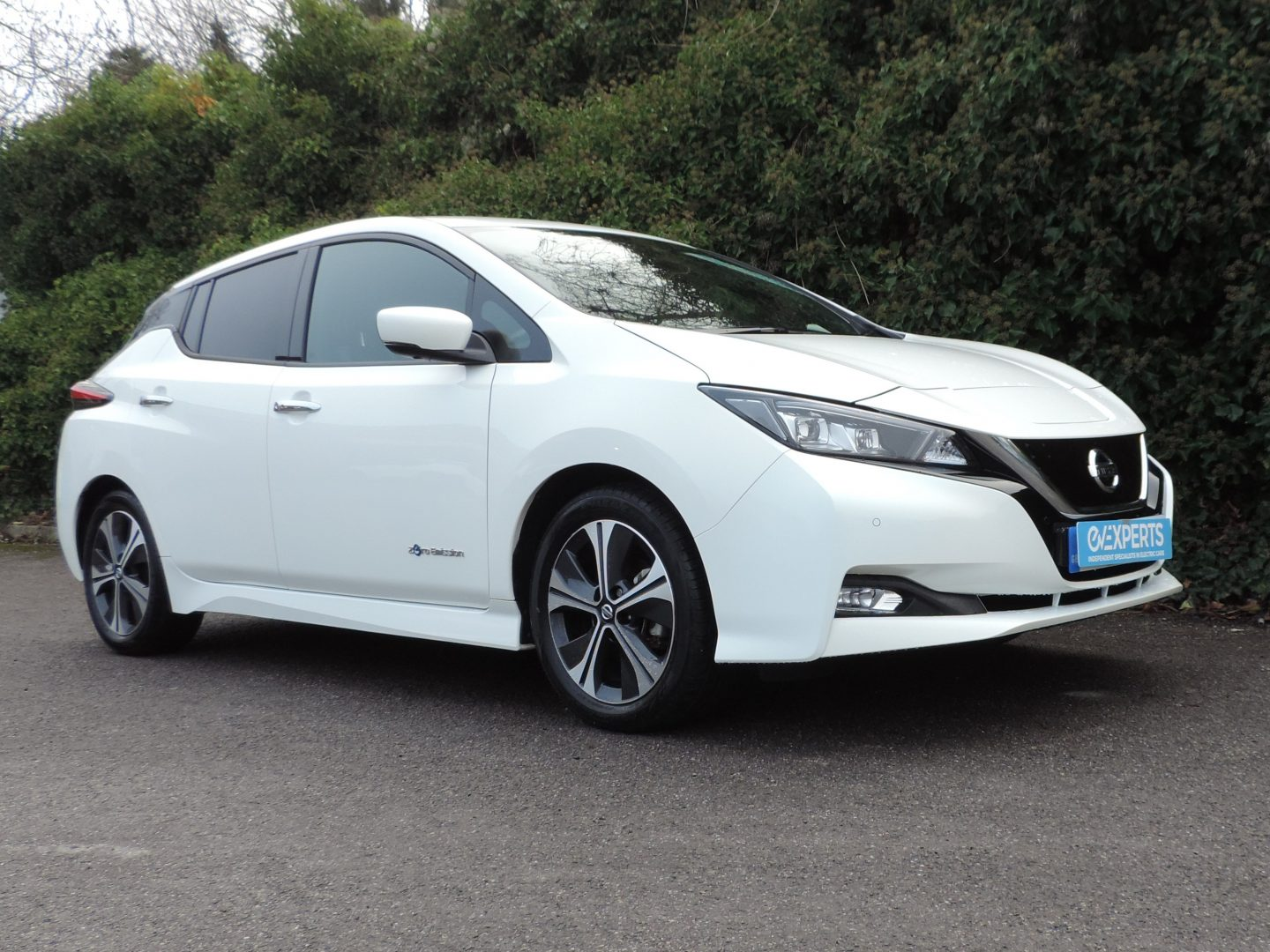 Nissan Leaf 40kWh Tekna (2018) Artic White / Black Leather