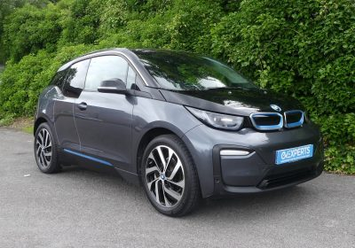 BMW i3 42kWh BEV (2019) Mineral Grey / Cloth with blue seatbelts