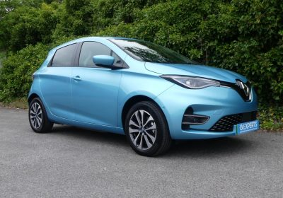 Renault Zoe 50kWh 135 GT Line (2020) Celadon Blue / Part-recycled-synthetic leather